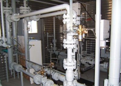 Inside view of Remote Metering and Odorizing High Pressure Station